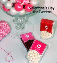 Valentines for tweens.  Free printables by Paper & Strings.