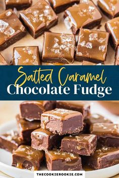 This yummy salted caramel chocolate fudge is the perfect sweet treat for the festive season! It's so easy and quick to make homemade fudge and it's always a crowd pleaser! Salted Caramel Desserts, Salted Caramel Chocolate, Chocolate Caramels, Chocolate Lovers, Homemade Fudge, Homemade Sweets, Easy Delicious Recipes, Delicious Desserts, Keto Desserts