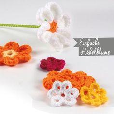 Einfache Häkelblume Crochet Earrings, Floral, Flowers, Jewelry, Flower Crochet, Game, Wool, Do Crafts, Jewlery