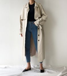Y's Spring 2019 Ready-to-Wear Fashion Show casual chic Casual Chic, Style Casual, Daily Fashion, Everyday Fashion, Fashion Top, Look Office, Office Chic, Trench Coat Outfit, Mode Ootd