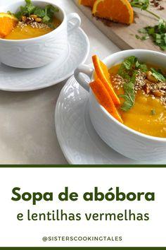Receita de sopa de abóbora simples | Sopa de lentilhas vermelhas | Sopa de lentilhas com legumes | Como fazer sopa cremosa e saudável | Receitas de sopas fáceis e saudáveis | Sopas e cremes | Sopas para emagrecer | Sopa de legumes | Jantar e Almoço | Passo a Passo | Lanches e Marmitas | Dia a Dia | Low Carb | Receitas Ilustradas | Para Congelar Thai Red Curry, Cantaloupe, Fruit, Ethnic Recipes, Food, Lentil Soup, Pumpkin Soup Recipes, Vegan Recipes, Vegetarian Recipes