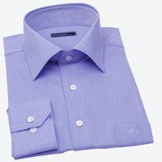 GOOD FELLAS-stone blue broadcloth shirt