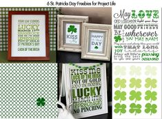 6 St. Patricks Day Freebies For Project Life