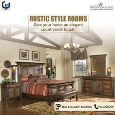 Rustic style rooms are all about solid wood, which can be used with bed frames, timber walls, flooring and even ceilings. Combine with warm tones, like brown, beige, grey and soft green shades, to create a natural look. Stone walls reflect an authentic rustic style and give a rough, unfinished edge. Rustic ambiance combines well with white walls, black & white furniture and green accents, by way of large wall hangings and accessories, combine perfectly with hardwood flooring, for medium to…
