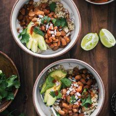 Spiced Pinto Bean Bowls with Avocado and Hot Sauce | Naturally Ella