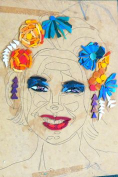 wip by kat gottke flower girl mosaic