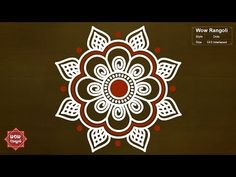 Simple Karthigai Deepam Kolam | Diya rangoli | Deepam Muggulu | Padi Kolam | Easy Rangoli - YouTube