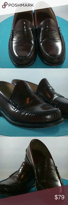 Johnston & Murphy Penny Loafers - 9 EEE Size: 9 EEE Color: Cordovan  Condition: Excellent Johnston & Murphy Shoes Loafers & Slip-Ons