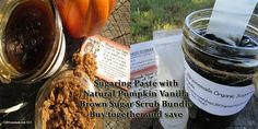 Save 10% -  Sugaring Paste & Pumpkin Vanilla Sugar Scrub Bundle - Exfoliation is KEY to successful NATURAL SUGARING HAIR REMOVAL AT HOME - Natural Sugaring Paste - Pumpkin Vanilla Sugar Scrub - pinned by pin4etsy.com **Limited time only! TWO FREE SKINCARE SAMPLES WITH EVERY PURCHASE!** NO Coupon Code needed!  VALID ONLY FOR PURCHASES MADE BETWEEN 12/30/2015 Midnight - 01/08/2016 Midnight