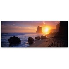 Trademark Fine Art Apostles from the Beach Canvas Art by David Evans, Size: 8 x 24, Multicolor