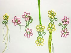 Floral Bliss - delicate tatting flowers, with pattern in adjoining pin as well.