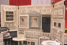Crft Booth Display Board from old Bi-Fold Doors