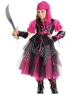 Girls Deluxe Caribbean Pirate Costume