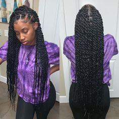 twist hairstyles For Black Women - Hottest Hair Color Trends for Women in 2019 Twist Braid Hairstyles, Easy Hairstyles For Medium Hair, Black Girl Braids, Braided Hairstyles For Black Women, African Braids Hairstyles, Braids For Black Hair, Girls Braids, Protective Hairstyles, Black Hairstyles