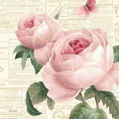 "Pastel Roses & French Ephemera by ""Lilac & Lavender. Decoupage Vintage, Decoupage Paper, Vintage Diy, Vintage Labels, Vintage Ephemera, Vintage Cards, Vintage Paper, Vintage Postcards, Printable Vintage"