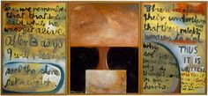 Colin McCahon - New Zealand's most significant artist, began painting in religious themes in the late Through the New Zealand Art, Nz Art, Religious Paintings, Church Design, File Image, Postmodernism, Triptych, Modern Art, Post Modern