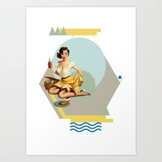 Gloria Art Print by Cut and Paste Lady
