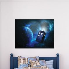 Time Warp Tardis Wall Decal Sticker   Dr. Who TARDIS Vinyl Wall Decal    Tardis Kids Wall Decal   Dr Who Wall Design   Primedecals | Pinterest | Wall  Decal ...