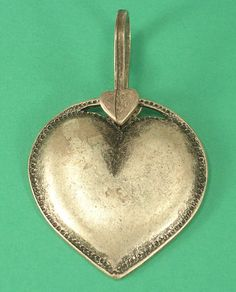 Metal Heart Pendant Silver Tone Metal Not a by JohnGermaine, $15.00