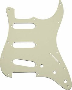 MIJ Pickguard for Stratocaster '72 Aged White 1Ply fa-pg-st72-aw1 by MIJ Guitars. $24.99. The shape model taken from original Fender Japan Stratocaster. Counterbored for screw holes. Brand new items with vinyl protective pull of film. Pickups and electronics are not included. Pot holes are fit to both mm scale and inch scale. Specification: pickup capacity: 70.8mm x 18.2mm pickup screw interval: 77mm switch screw interval: 41mm pot hole diameter: 9.5 mm There are 3 types ...