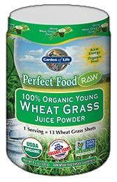 Garden of Life Perfect Food Raw 100% Organic Young Wheat Grass Juice Powder