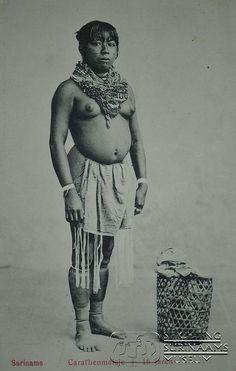 """Caraïbenmeisje"" 1910 Suriname"