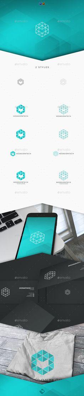 Hexagon Tech Logo Template - Abstract Logo Templates Download here : https://graphicriver.net/item/hexagon-tech-logo-template/19949307?s_rank=215&ref=Al-fatih