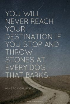 You Will Never reach Your Destination If You Stop And Throw Stones At Every Dog That Burks. Churchill Quotes, Winston Churchill, Use And Throw Quotes, Destiny Quotes, Everyday Quotes, Famous Movie Quotes, Albert Einstein Quotes, Education Humor, Strong Women Quotes