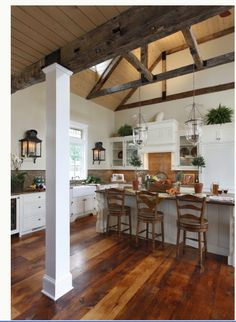 love the floors and ceiling