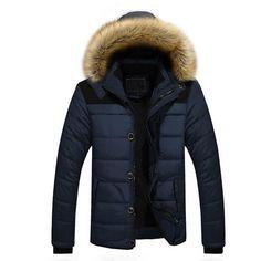 New Arrival Warm Winter Jacket Men Hooded Casual Slim Parka Mens Winter Coat - Dark Blue / Xl - Mens Clothing Mens Winter Coat, Winter Jackets, Winter Coats, Casual Jackets, Men's Jackets, Winter Parka, Mode Man, Mens Fur, Parka Coat