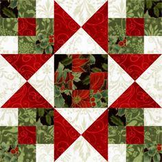Star Crossed Christmas Quilt Block