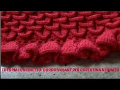 TUTORIAL UNCINETTO:BORDO VOLANT PER COPERTINA NEONATO - YouTube Baby Blanket Crochet, Crochet Baby, Knit Crochet, Crochet Videos, Make It Yourself, Stitch, Knitting, Diy, Youtube
