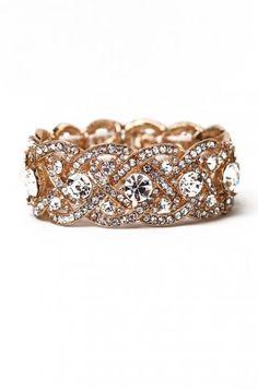 Crystal Braid Bracelet in Gold