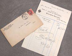 1916 Pharmacy Receipt George H Wetzel Lancaster Oh Ohio
