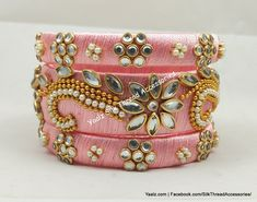 Price For orders, ping us in whatsapp at 8754032250 We ship to all countries Silk Thread Bangles Design, Silk Bangles, Thread Jewellery, Soutache Jewelry, Beaded Jewelry, Handmade Jewelry, Diy Jewellery, Silk Art, Bangle Bracelets