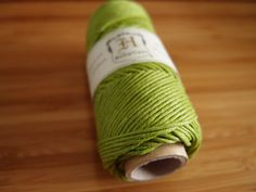 Hemp Cord - Lime Green - #20 20lb / 1mm cord Hemptique - Five (5) Metres -   Jewellery Making Stringing Knotting Cord Thong UK Seller by LoveEllieBagMaking Find it now at http://ift.tt/1OsPFtb!