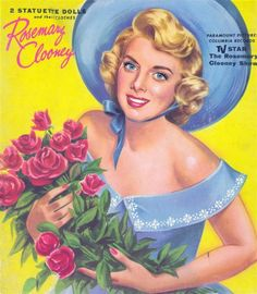 1958 Rosemary Clooney paper doll back cover / www.paper--dolls.com