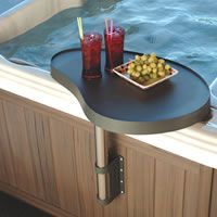 Spa Caddy - A place to hold food and beverages spaside./i need the jacuzzi first Accessoires Spa, Hot Tub Accessories, Hotel Boutique, Hot Tub Backyard, Jacuzzi Outdoor, Best Spa, Pool Supplies, Backyard Lighting, Design Furniture