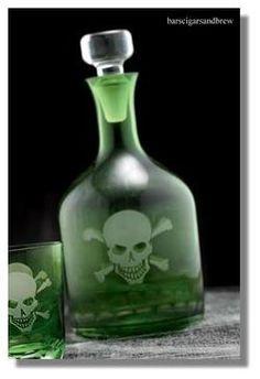 Skull and bones decanter!!