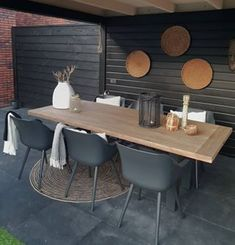 Ideas Concrete Patio Decor House For 2019 Porch Interior, Pergola, Ceiling Materials, Porch Flooring, Diy Porch, Concrete Patio, Inspired Homes, Garden Furniture, Garden Inspiration