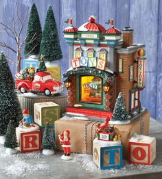 "Department 56 Original Snow Village Series  ""Holiday Special Set 2013"""