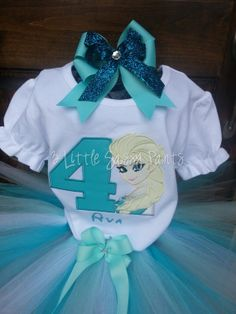 Elsa Birthday Embroidered Shirt Applique by 3LittleSassyPants, $28.00 @Kaci Hoskins
