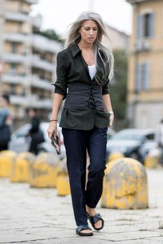 The Street Style at Milan Fashion Week May Be the Best Yet Day 1 Sarah Harris