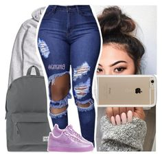 """""""who's better for you than ya girl?"""" by lamamig ❤ liked on Polyvore featuring Speck, H&M, Herschel Supply Co. and NIKE"""