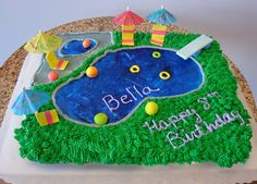 Pool Party Cupcake Cake