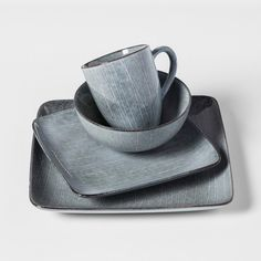 image of Gibson Paradiso Round Dinnerware in Grey | home | Pinterest ...