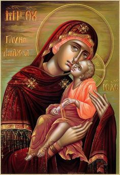 Religious Images, Religious Icons, Religious Art, Madonna, Blessed Mother Mary, Mary And Jesus, Byzantine Icons, Hail Mary, Orthodox Icons