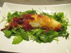 FORNELLI IN FIAMME: MONKFISH WITH DRIED TOMATO SAUCE AND ROCKET - Rana pescatrice con salsa di pomodori e secchi e rucola fresca