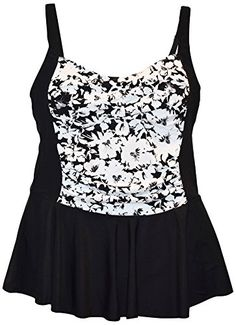 ff06e52cdd10e Introducing Heat Womens Plus Size Swimdress Swimsuit Skater 18W BlkWht  Floral. Get Your Ladies Products