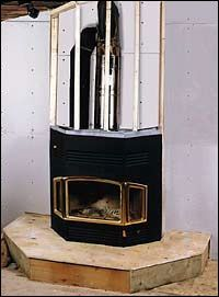 Figure This prefabricated metal fireplace is one example of an EPA-certified controlled-combustion fireplace